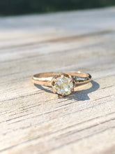 Load image into Gallery viewer, Estate .25 Fancy Yellow Old Mine Cut Diamond Ring