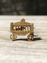 Load image into Gallery viewer, Estate 14k Gold Circus Wagon With Tiger Charm