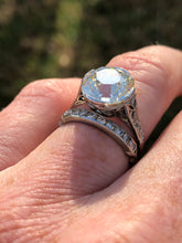 Load image into Gallery viewer, 4.85 Carat Old Mine Cushion Diamond Ring