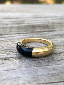 Cartier 18k and Black Onyx Ring