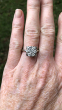 Load image into Gallery viewer, 14k White Gold 1.2 Carat Diamond Cluster Ring