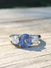 Load image into Gallery viewer, 2.30ctw Sapphire And Diamond Ring