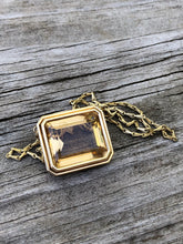 Load image into Gallery viewer, 33 Carat Citrine 18k Bezel Necklace