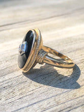 Load image into Gallery viewer, 14k Gold And Onyx Diamond Ring
