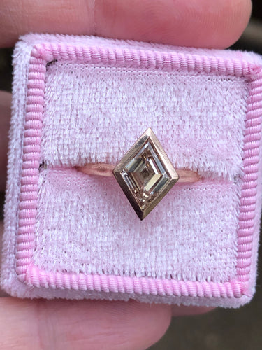 Estate 1.50 Fancy Brownish Yellow Lozenge Diamond Ring