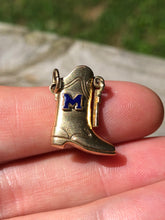 Load image into Gallery viewer, 14k Gold Majorette Marching Band Boot Charm