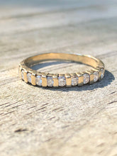 Load image into Gallery viewer, 14k Yellow Gold Diamond Band