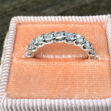 Load image into Gallery viewer, 2.54 carat Diamond Asscher Eternity Band