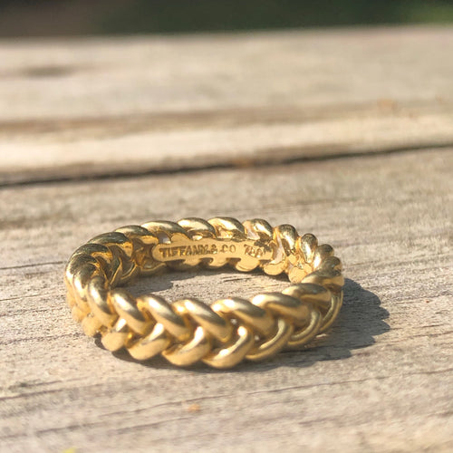 18k Tiffany&Co Braided band
