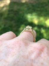 Load image into Gallery viewer, 2.05 Carat Yellow Old Mine Cut Bezel Ring
