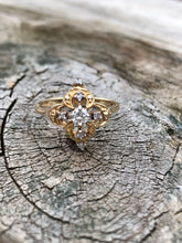 Load image into Gallery viewer, 14k Gold and Diamond Ornate Ring