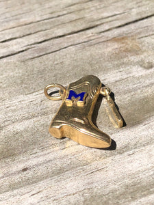 14k Gold Majorette Marching Band Boot Charm