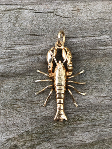 14k Gold Lobster Charm