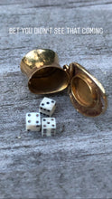 Load image into Gallery viewer, 14k Gold Magician Hat With Dice Charm