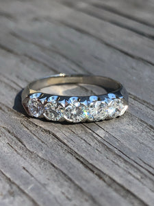.90 carat Diamond and Platinum Band