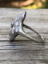 Load image into Gallery viewer, Estate .90 Carat Diamond Navette Ring