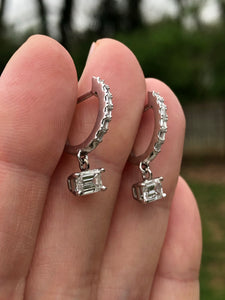 1.30ctw Emerald Cut Diamond Earrings
