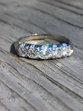 Load image into Gallery viewer, .90 carat Diamond and Platinum Band