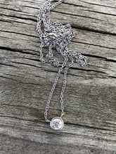 Load image into Gallery viewer, 14k White Gold .27 carat Diamond Necklace