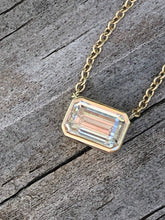 Load image into Gallery viewer, GIA .70 G VVS2 Carat Emerald Cut Choker Necklace