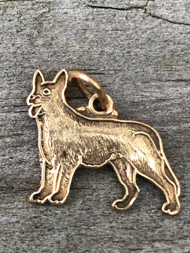 14k Gold German Shepherd Charm