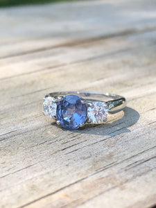 2.30ctw Sapphire And Diamond Ring