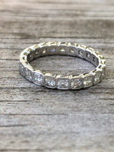 Load image into Gallery viewer, 1.85 carat Asscher Diamond Platinum Eternity Band