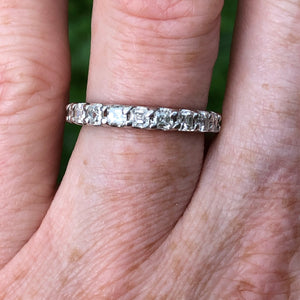 2.54 carat Diamond Asscher Eternity Band