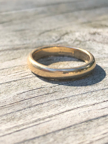 14k Gold Antique 1915 Wedding Band