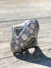 Load image into Gallery viewer, 14k White Gold Navette Diamond Ring