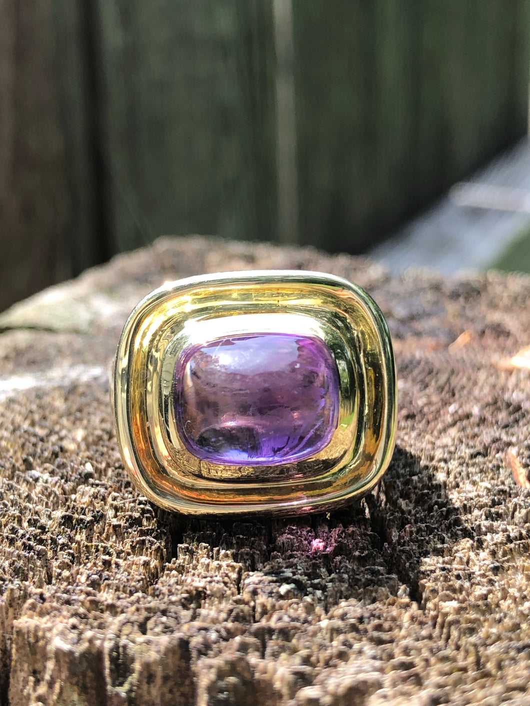 14k Gold 3.20 carat Amethyst Ring
