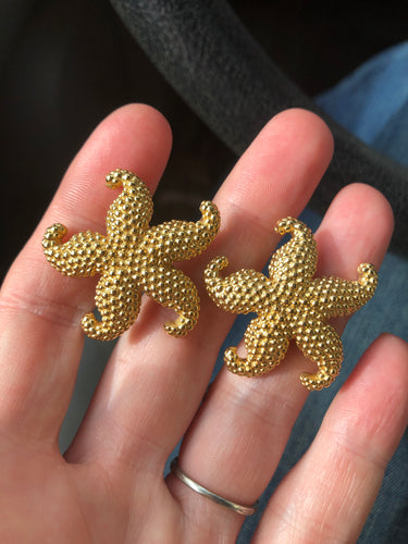 Estate 14k Yellow Gold JIL Starfish Earrings