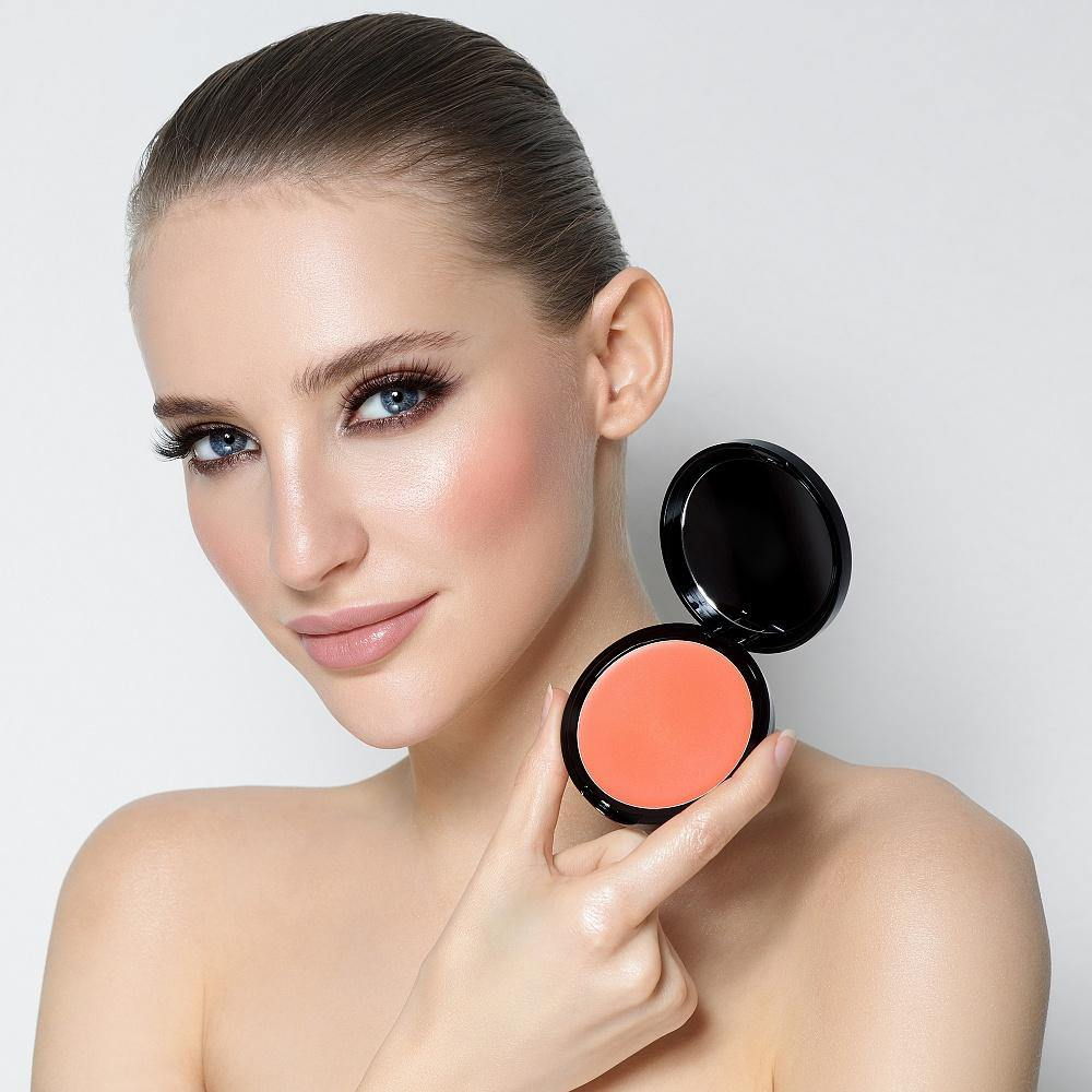 Sexy Cream Blush SHINY PEACH - Romanovamakeup