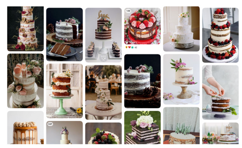 naked or nude cakes for weddings, birthdays