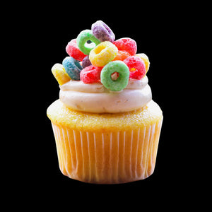 Fruit Loops Cupcakes
