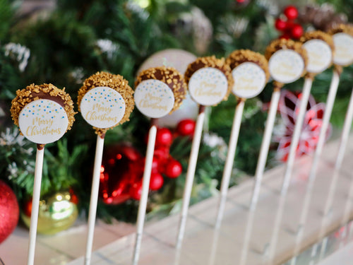 Gold Christmas Cake Pops