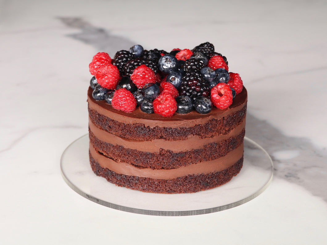 Strawberry Blackberry Naked Cake