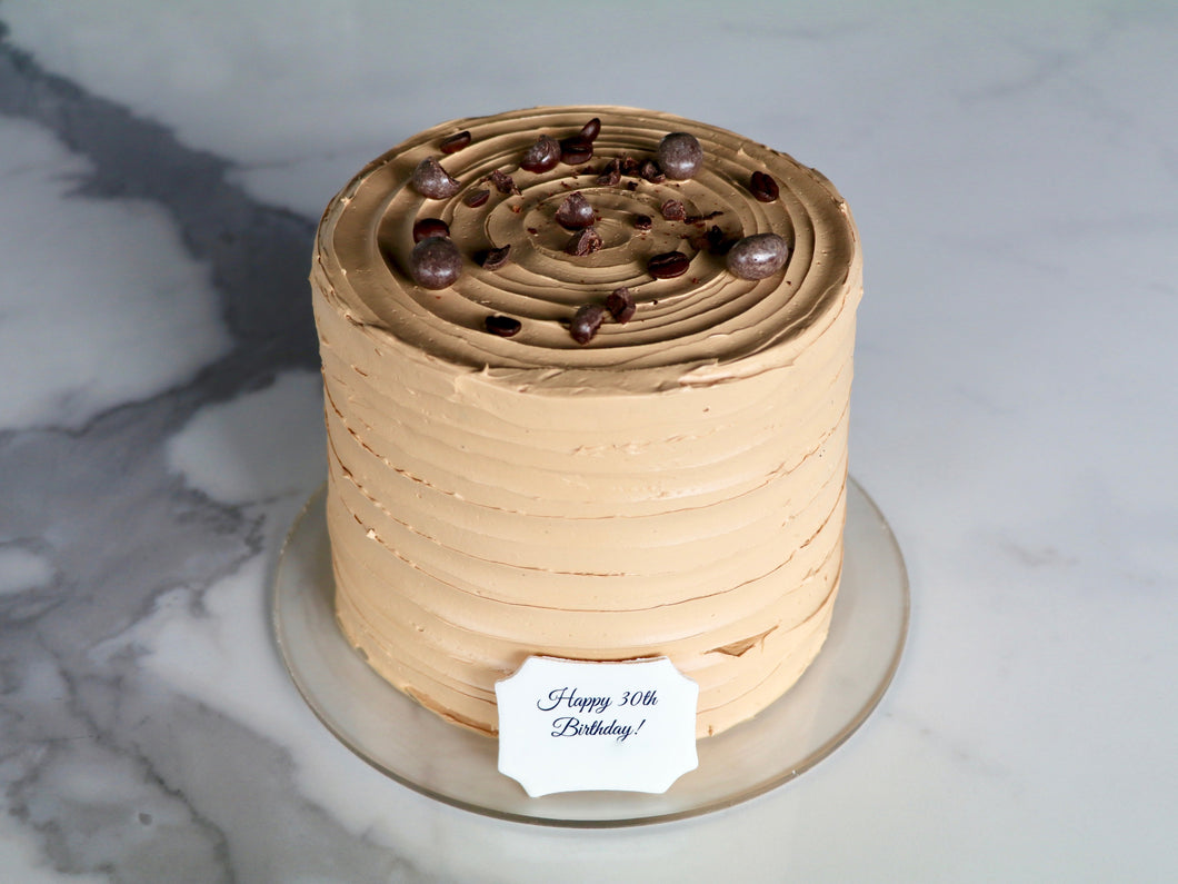 Mocha Chocolate Buttercream Cake