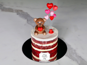 red velvet teddy bear valentines day cake