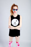 Logo print streetwear boy beater top