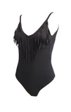 In The Fringe scoop back brazilian fringed Swimsuit