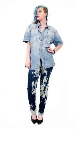 punk pants  steampunk pants upcycled jeans upcycled denim bleached jeans steampunk pants skinny jeans punk pants
