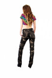 punk pants acid splatter Upcycled jeans Original Levis 505