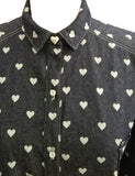 All Buttoned Up And Ready To Go oversize heart print denim Shirt Dress