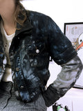 Age Of Decay black smoke upcycled sweatshirt n denim jacket