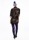 soft grunge leopard print leggings  streetwear shiny spandex leggings leopard leggings iridescent