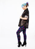 leopard print leggings shiny spandex leggings streetwear leopard leggings iridescent soft grunge