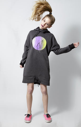 The Slouchy oversize hoodie Dress in gray