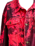 Age Of Decay red smoke upcycled denim jacket