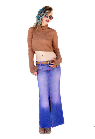 Acid Angel ombre purple mermaid denim skirt